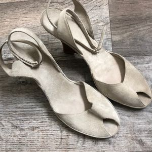 Cole Haan Suede Open Toe String Sandals size 11